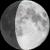 The moon at 70% visibility