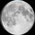 The moon at 96% visibility