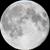 The moon at 100% visibility