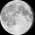 The moon at 94% visibility