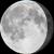 The moon at 88% visibility