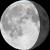 The moon at 80% visibility
