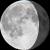 The moon at 78% visibility